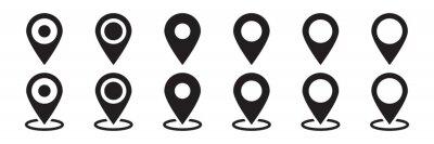 Obraz Maps pin. Location map icon.