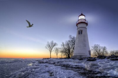 Obraz Marblehead Lighthouse Sunrise