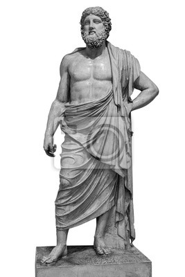 Obraz Marmurowa statua grecki bóg Zeus odizolowywający na białym tle