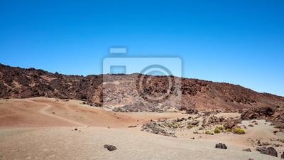 Mars like landscape of Mount Teide in Teide National Park, Tenerife, Spain.