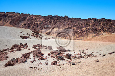 Mars like landscape of Mount Teide, Tenerife, Spain.
