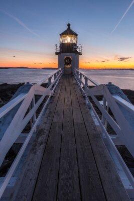 Obraz Marshall Point Lighthouse o zachodzie słońca