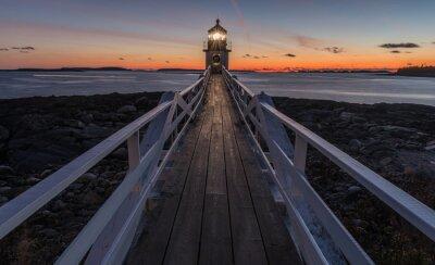 Obraz Marshall Point Lighthouse po zachodzie słońca