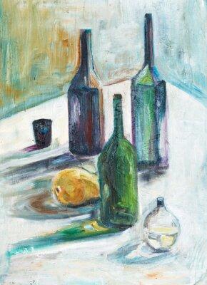 Obraz Martwa natura z butelek