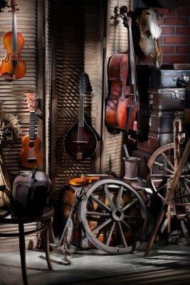 Obraz Martwa natura z instrumentami muzycznymi