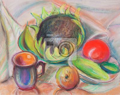 Obraz Martwa natura z pomidorów i słonecznika