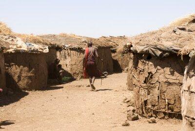 Obraz Masai Wieś, Park Narodowy Amboseli