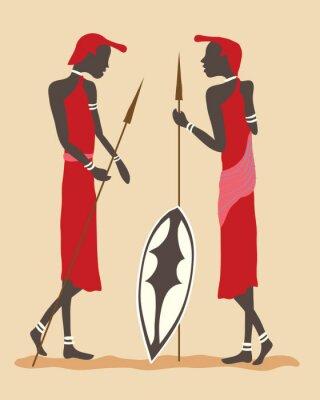 Obraz Masai wojownicy