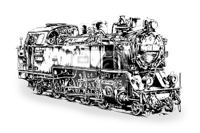 Maszyna parowa Dampflok stary retro
