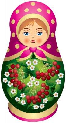 Obraz Matryoshka doll z czerwonych jagód