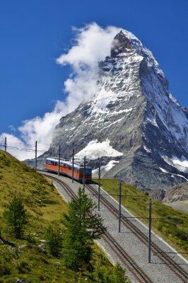 Obraz Matterhorn kolejowe z Zermatt do Gornergrat. Szwajcaria
