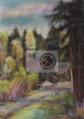 Obraz May z drewna drzew iglastych