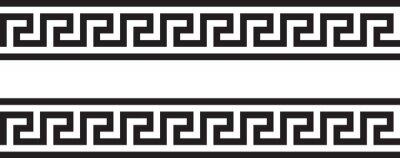 Obraz Meander and wave. Ancient Greek borders. Set of ornaments