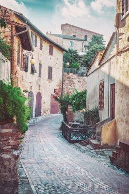 Obraz Medieval widok ulicy w Certaldo, Włochy.