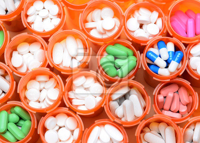 Obraz Medycyna Butelki na receptę