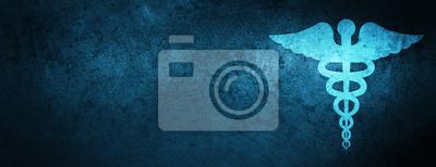 Obraz Medyczny ikona specjalny błękitny sztandaru tło
