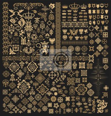 Obraz Mega zestaw elementów barokowych