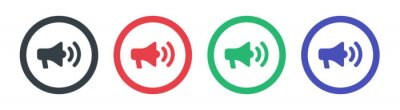 Obraz Megaphone icon vector illustration. Business marketing concept