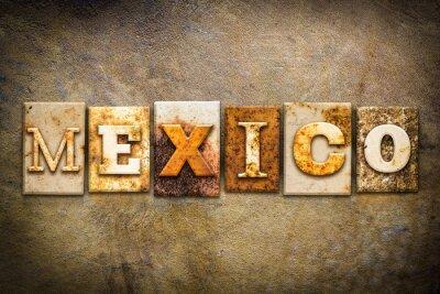 Obraz Meksyk Praca typograficznego Skóra Theme