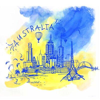 Obraz Melbourne skyline Australia.