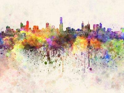 Obraz Melbourne Skyline w akwarela