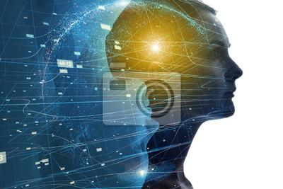 Obraz Mentalny świat ludzkiej koncepcji.