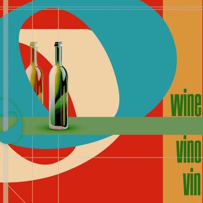 Obraz menu restauracji, butelki i kolorowych ilustracji dane