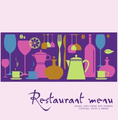 Obraz Menu w restauracji