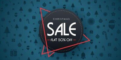 Merry Christmas Sale banner. Vector illustration.