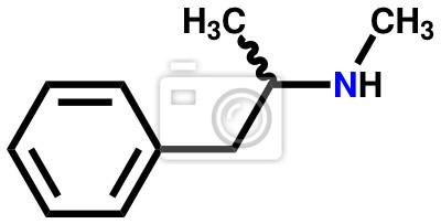 Metamfetamina wzór strukturalny