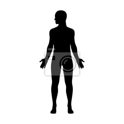 Obraz Mężczyzna ludzkie ciało z głową zwróconą na bok płaski ikonę aplikacji i stron internetowych