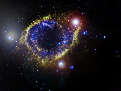Obraz mgławica planetarna przestrzeń wszechświata