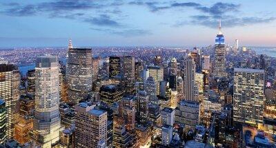 Obraz Miasto Nowy Jork nocą, Manhattan, USA