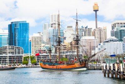Obraz Miasto scape Darling Harbour w Sydney, Australia.