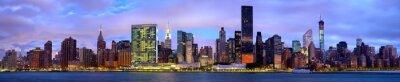 Obraz Midtown Manhattan skyline panorama przed wschodem słońca, Nowy Jork