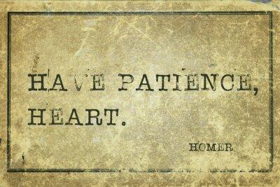 Obraz Miej cierpliwość Homera
