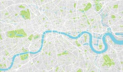Obraz Miejskie mapie miasta Londyn, Anglia
