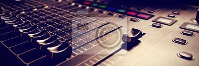 Obraz Mikser dźwięku w studio