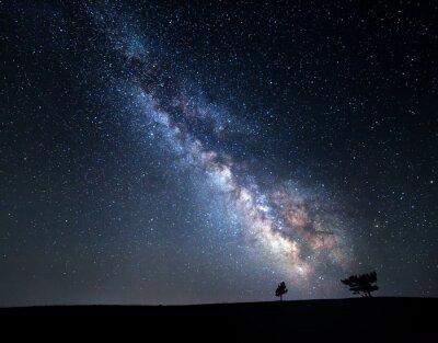 Obraz Milky Way. Beautiful summer night sky with stars in Crimea