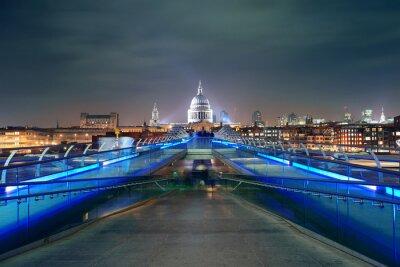 Obraz Millennium Bridge i St Pauls