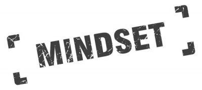 Obraz mindset stamp. square grunge sign isolated on white background
