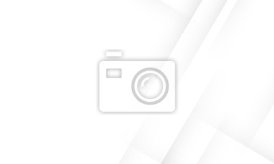 Obraz Minimal geometric white light background abstract design. vector EPS10.