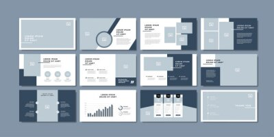 Obraz minimal slides presentation background template. travel presentation template.