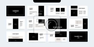 Obraz minimal style presentation template