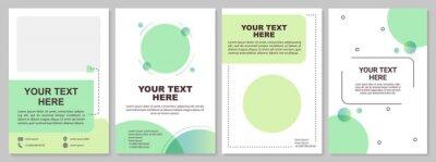 Obraz Minimalistic brochure template