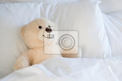 Obraz Misia na łóżku