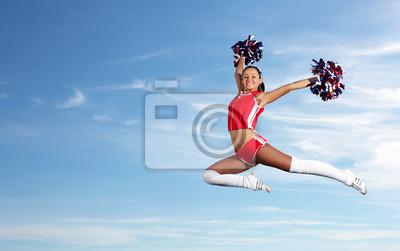 Obraz Młoda kobieta cheerleaderka