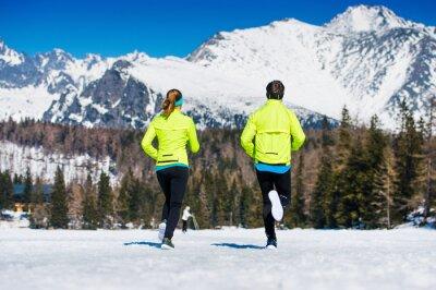 Obraz Młoda para jogging