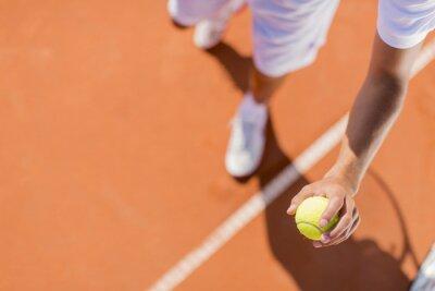 Obraz Młody mężczyzna gra w tenisa