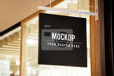 Obraz Mockup sign outside of a shop